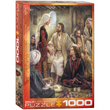 At Jesus' Feet by Nathan Greene 1000 Piece Puzzle Jigsaw Puzzle