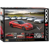 2014 Corvette Stingray It Runs in the Family 1000 Piece Puzzle Jigsaw Puzzle