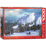 Rocky Mountain Christmas by Dominic Davison 1000 Piece Puzzle Jigsaw Puzzle