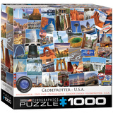 Globetrotter USA 1000 Piece Puzzle Jigsaw Puzzle