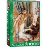 Girls at the Piano by Pierre-Auguste Renoir 1000 Piece Puzzle Jigsaw Puzzle