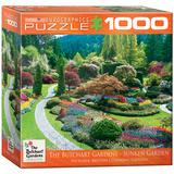 Butchart Gardens Sunken Garden 1000 Piece Puzzle Jigsaw Puzzle