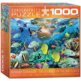 The Journey of the Sea Turtle by Howard Robinson 1000 Piece Puzzle Jigsaw Puzzle