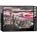 Seattle City Skyline 1000 Piece Puzzle Jigsaw Puzzle
