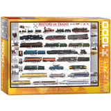 History of Trains 1000 Piece Puzzle Jigsaw Puzzle