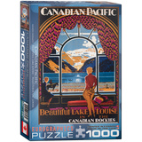 Beautiful Lake Louise by Kenneth Shoesmith 1000 Piece Puzzle Jigsaw Puzzle