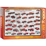 Vintage Fire Engines 1000 Piece Puzzle Jigsaw Puzzle
