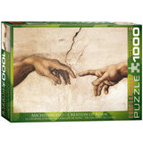 Creation of Adam by Michelangelo 1000 Piece Puzzle Jigsaw Puzzle