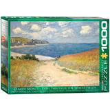 Path through the Wheat Fields by Claude Monet 1000 Piece Puzzle Jigsaw Puzzle