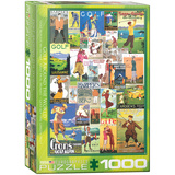 Golf Around the World 1000 Piece Puzzle Jigsaw Puzzle