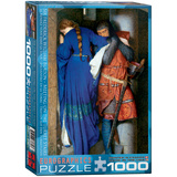 Meeting on the Turret Stairs by Sir Frederick William Burton 1000 Piece Puzzle Jigsaw Puzzle