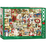 Vintage Christmas Cards 1000 Piece Puzzle Jigsaw Puzzle