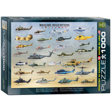 Military Helicopters 1000 Piece Puzzle Jigsaw Puzzle