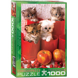 Kittens in Pots 1000 Piece Puzzle Jigsaw Puzzle