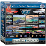 American Cars of the 1950s 1000 Piece Puzzle Jigsaw Puzzle