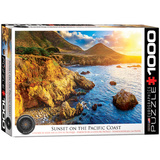 Sunset on the Pacific Coast 1000 Piece Puzzle Jigsaw Puzzle
