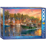 Harbor Sunset by Dominic Davison 1000 Piece Puzzle Jigsaw Puzzle