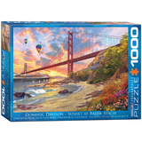 Sunset at Baker Beach by Dominic Davison 1000 Piece Puzzle Jigsaw Puzzle