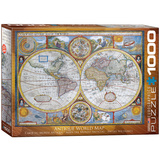 Antique World Map 1000 Piece Puzzle Jigsaw Puzzle