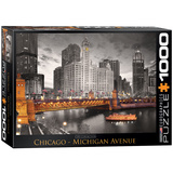 Chicago Michigan Avenue 1000 Piece Puzzle Jigsaw Puzzle