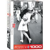 LIFE V-J Day Kiss in Times Square by Alfred Eisenstaedt 1000 Piece Puzzle Jigsaw Puzzle