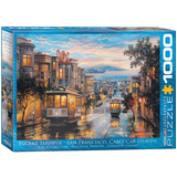 San Francisco Cable Car Heaven by Eugene Lushpin 1000 Piece Puzzle Jigsaw Puzzle