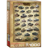 World War II Tanks 1000 Piece Puzzle Jigsaw Puzzle