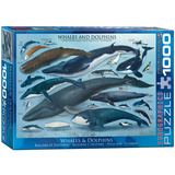Whales & Dolphins 1000 Piece Puzzle Jigsaw Puzzle