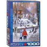 Hockey Season by Douglas R. Laird 1000 Piece Puzzle Jigsaw Puzzle