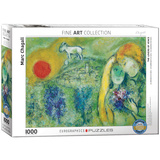 The Lovers of Vence by Marc Chagall 1000 Piece Puzzle Jigsaw Puzzle