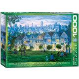 San Francisco The Seven Sisters by Eugene Lushpin 1000 Piece Puzzle Jigsaw Puzzle