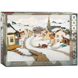 Village in the Laurentians by Clarence Gagnon 1000 Piece Puzzle Jigsaw Puzzle