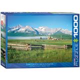 Sawtooth Mountains Idaho 1000 Piece Puzzle Jigsaw Puzzle