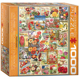 Flowers Seed Catalogue Collection 1000 Piece Puzzle Jigsaw Puzzle