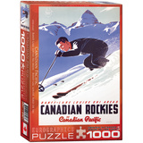 Banff Lake Louise Ski Areas by Peter Ewart 1000 Piece Puzzle Jigsaw Puzzle