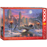 Christmas Eve in New York City by Dominic Davison 1000 Piece Puzzle Jigsaw Puzzle