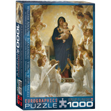 Virgin with Angels by William Adolphe Bouguereau 1000 Piece Puzzle Jigsaw Puzzle