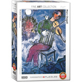 The Blue Violinist by Marc Chagall 1000 Piece Puzzle Jigsaw Puzzle