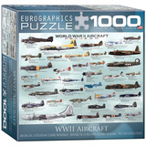 WWII Aircraft 1000 Piece Puzzle Jigsaw Puzzle
