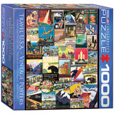 Travel USA Vintage Posters 1000 Piece Puzzle Jigsaw Puzzle