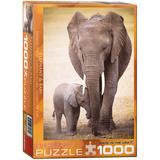 Elephant & Baby 1000 Piece Puzzle Jigsaw Puzzle