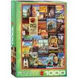 Pennsylvania Railroad Vintage Posters 1000 Piece Puzzle Jigsaw Puzzle