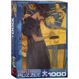 The Music by Gustav Klimt 1000 Piece Puzzle Jigsaw Puzzle