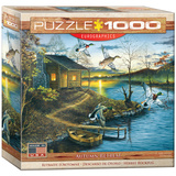 Autumn Retreat by Abraham Hunter 1000 Piece Puzzle Jigsaw Puzzle