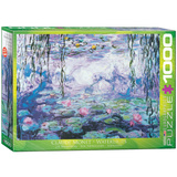 Waterlilies by Claude Monet 1000 Piece Puzzle Jigsaw Puzzle