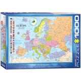 Map of Europe 1000 Piece Puzzle Jigsaw Puzzle