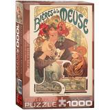 Bières de la Meuse by Alphonse Maria Mucha 1000 Piece Puzzle Jigsaw Puzzle