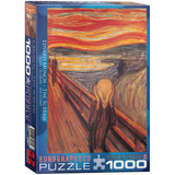 The Scream by Edvard Munch 1000 Piece Puzzle Jigsaw Puzzle