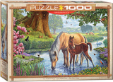 The Fell Ponies by Steve Crisp 1000 Piece Puzzle Jigsaw Puzzle