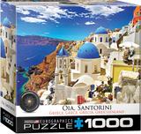 Oia Santorini Greece 1000 Piece Puzzle Jigsaw Puzzle